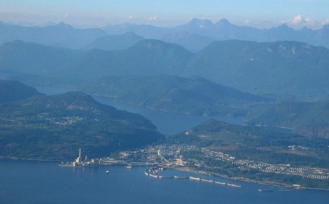 Powell River from air